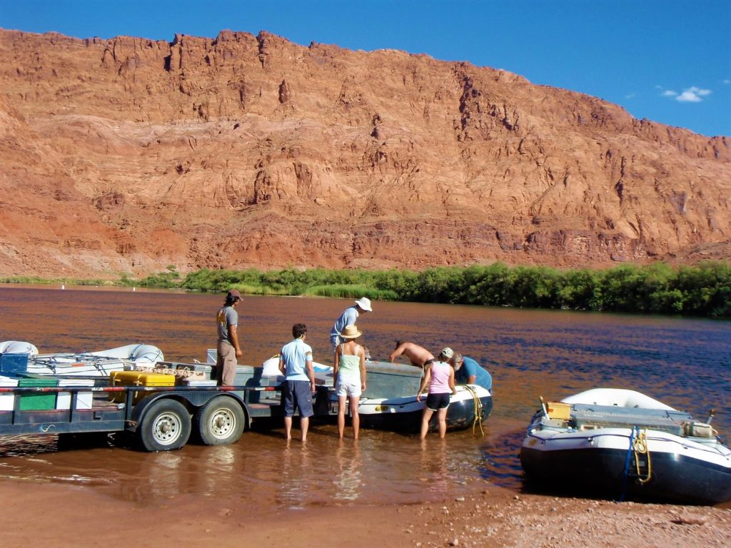 Put-in for Grand Canyon Rafting Trips