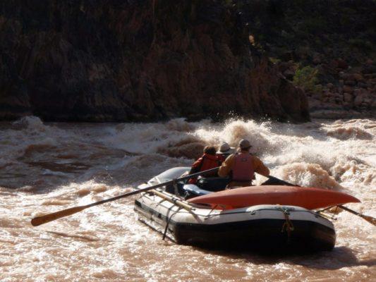 Grand Canyon Rafting through Crystal Rapid